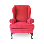 Contemporary Queen Anne Wing Chair