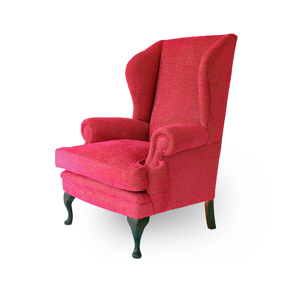 Contemporary Queen Anne Wing Chair Kingston Traditional