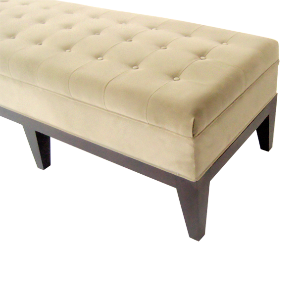 Shallow Buttoned End of Bed Stoolol  sc 1 st  Kingston Traditional Upholstery : stool at end of bed - islam-shia.org