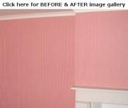Fabric on walls