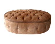 Deep Buttoned Oval Stool