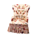 Small Spook Back Chair with Skirt
